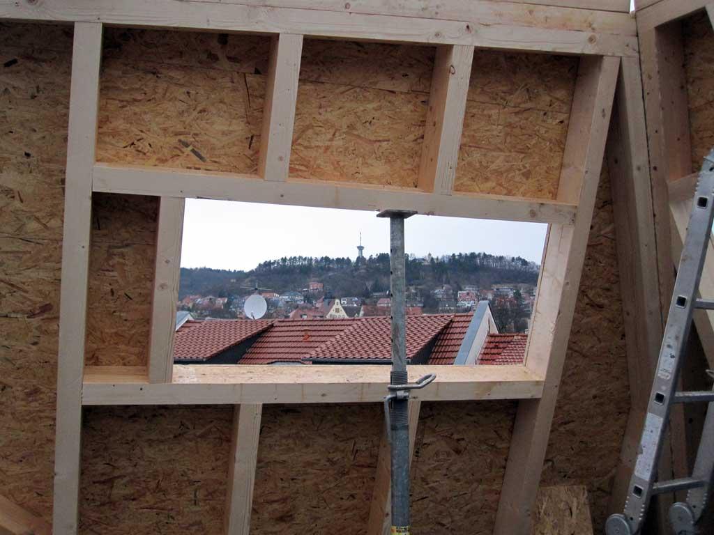"""Blick vom zukünftigen Dachzimmer Hotel """"VielHarmonie"""" Jena"""