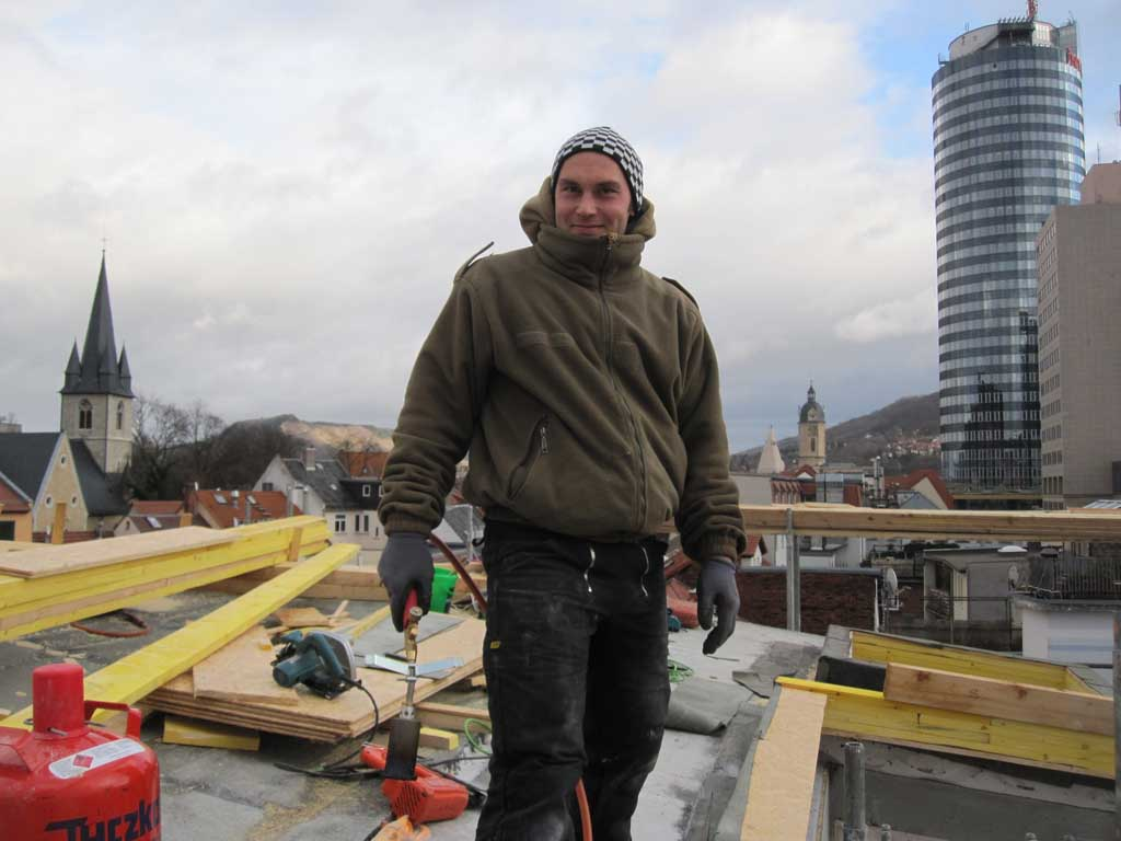 "Blick vom Dach Hotel ""VielHarmonie"" Jena"