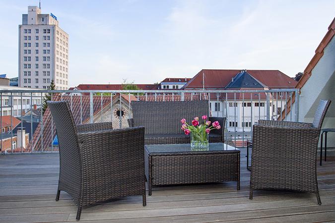 Ferienwohnung im Hotel VielHarmonie - Terrasse